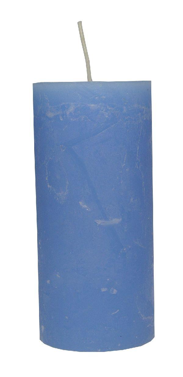 Rustic Zylinderkerze LAVENDEL 62 150x70mm durchgefärbt