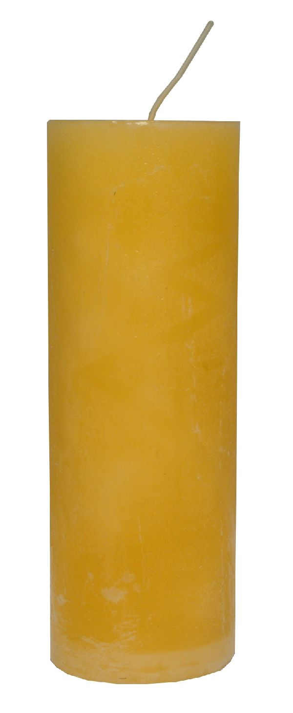 Rustic Zylinderkerze CREME 06 200x70mm durchgefärbt