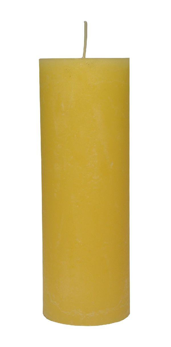 Rustic Zylinderkerze Vanille 18 200x70mm durchgefärbt