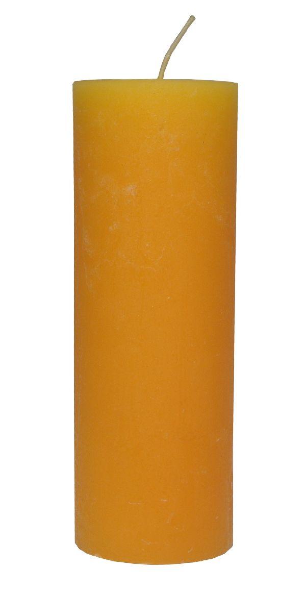 Rustic Zylinderkerze SONNENGELB 14 200x70mm durchgefärbt