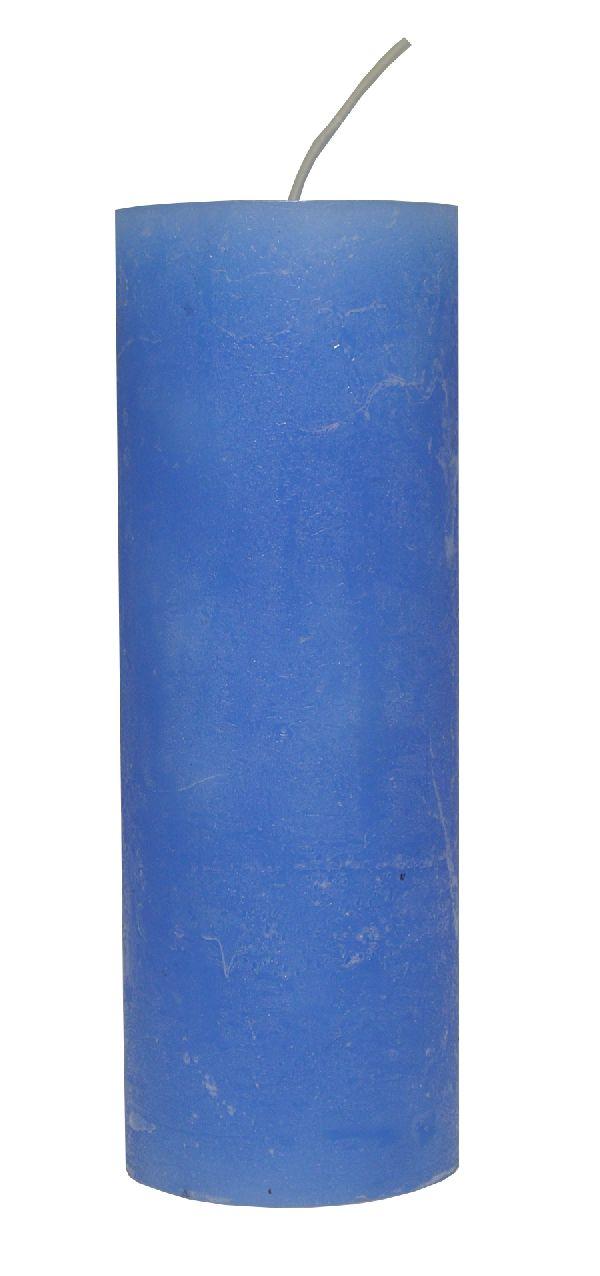 Rustic Zylinderkerze LAVENDEL 62 200x70mm durchgefärbt
