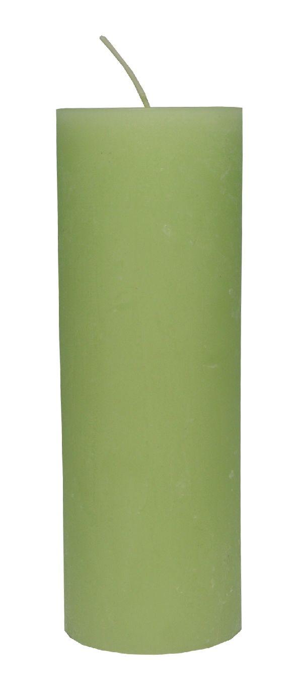 Rustic Zylinderkerze RESEDAGRÜN 83 200x70mm durchgefärbt