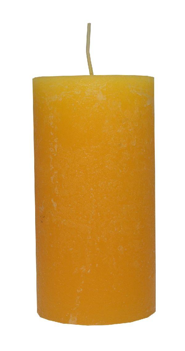 Rustic Zylinderkerze SONNENGELB 14 150x80mm durchgefärbt
