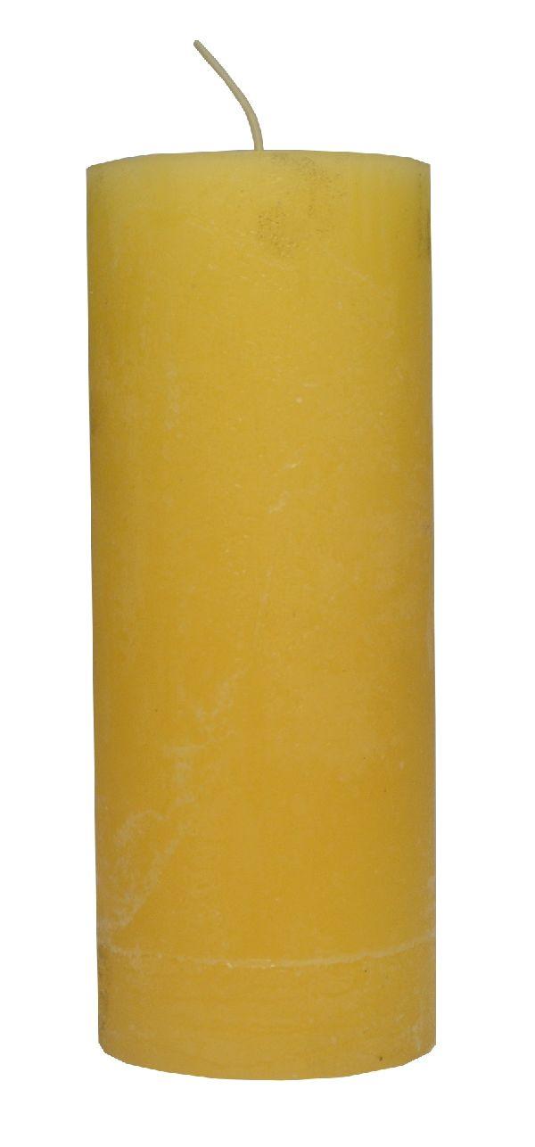 Rustic Zylinderkerze Vanille 18 200x80mm durchgefärbt