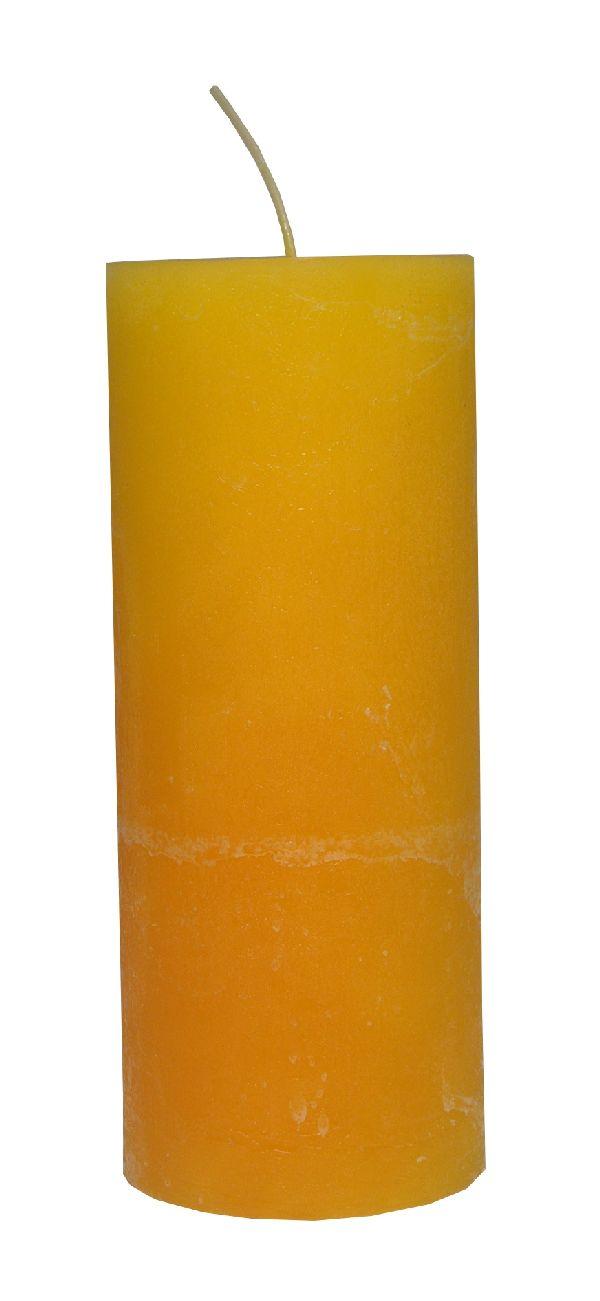Rustic Zylinderkerze SONNENGELB 14 200x80mm durchgefärbt