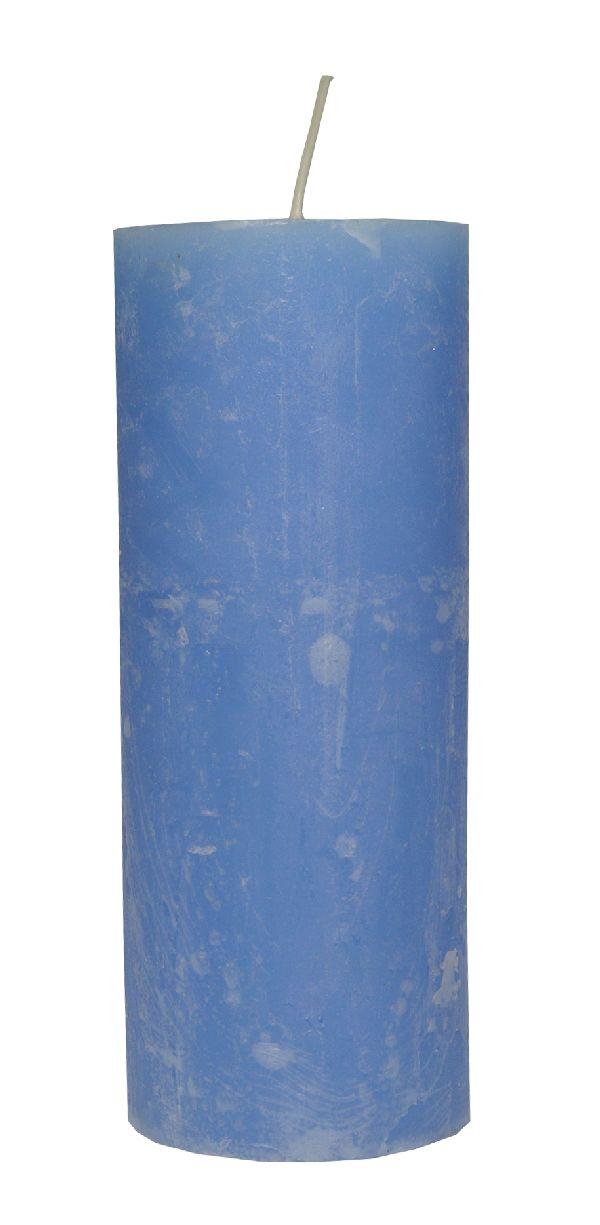 Rustic Zylinderkerze LAVENDEL 62 200x80mm durchgefärbt