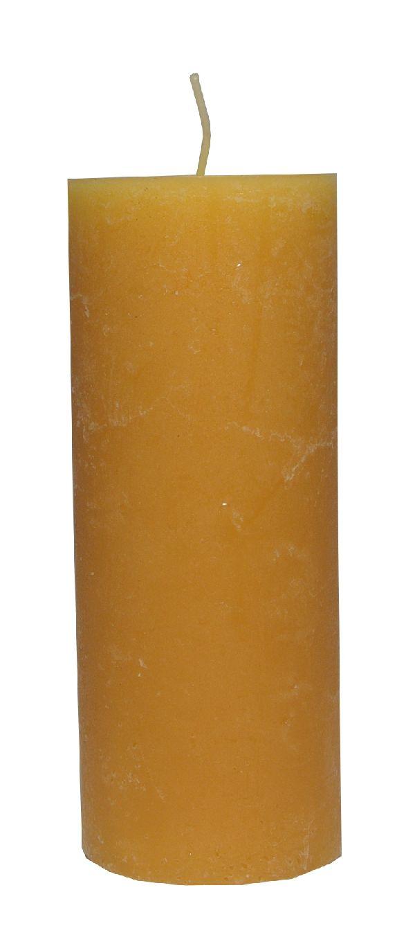 Rustic Zylinderkerze BEIGE 47 200x80mm durchgefärbt