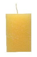 Rustic Würfelkerze Vanille 18 110x70x70mm durchgefärbt