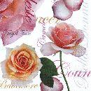Servietten 33cm Design WEISS-ROSA Bella Donna 368025