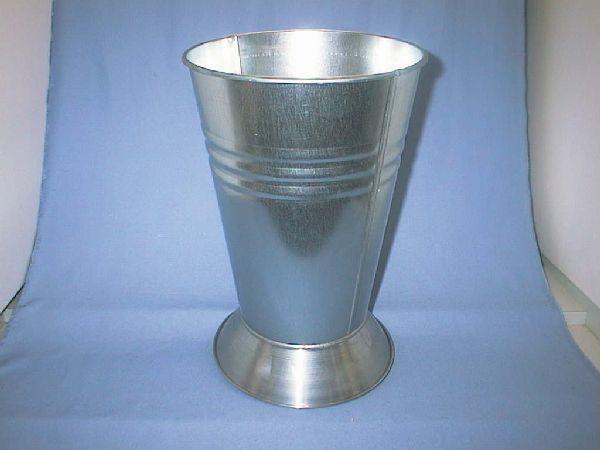Vase m.Fuß ZINK D22,5cmxH34cm