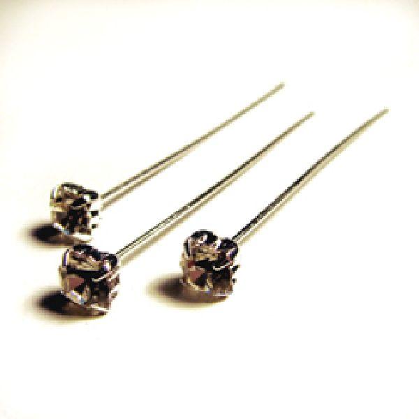 Oasis® Diamant Flex-Pins KLAR / silber 41-62383 Ø 6mm Kopf L= 7cm