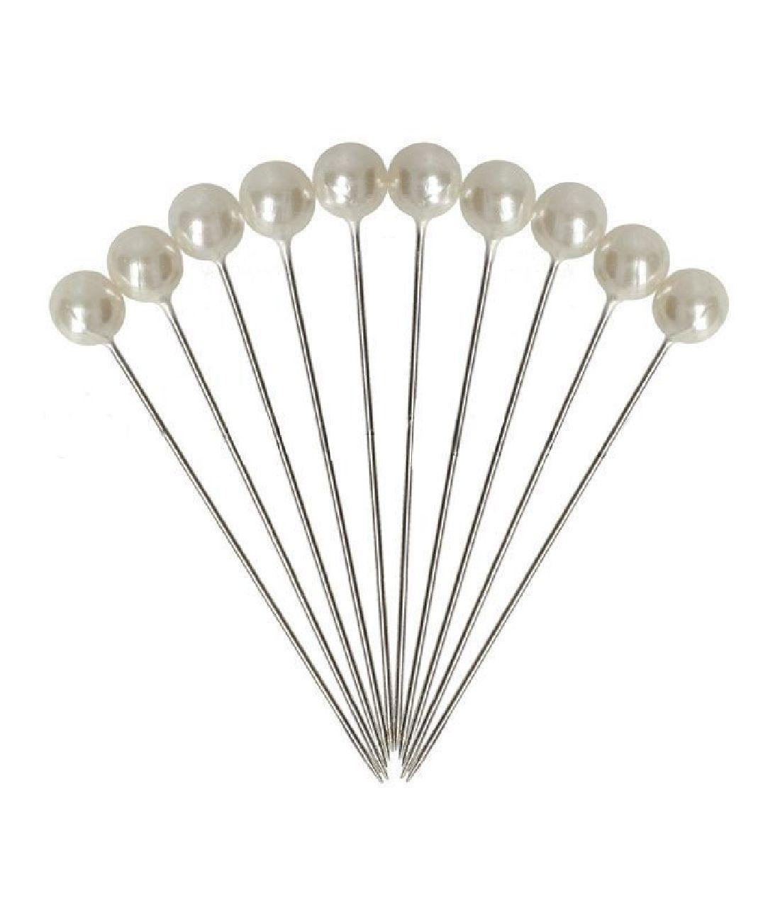 Perlennadeln WEISS 61404 D=8mm L=6cm