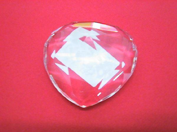 Glas-Diamant KLAR 10x5cm Herz