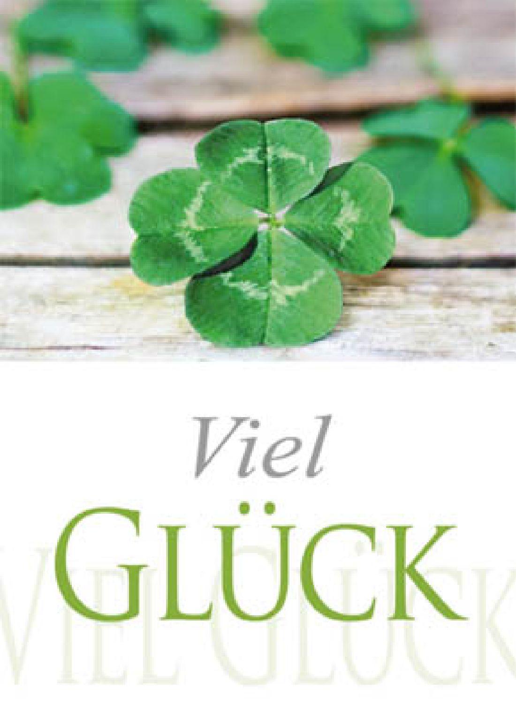 Minikarten Viel Glück Delicato mit Holzklammer K8527