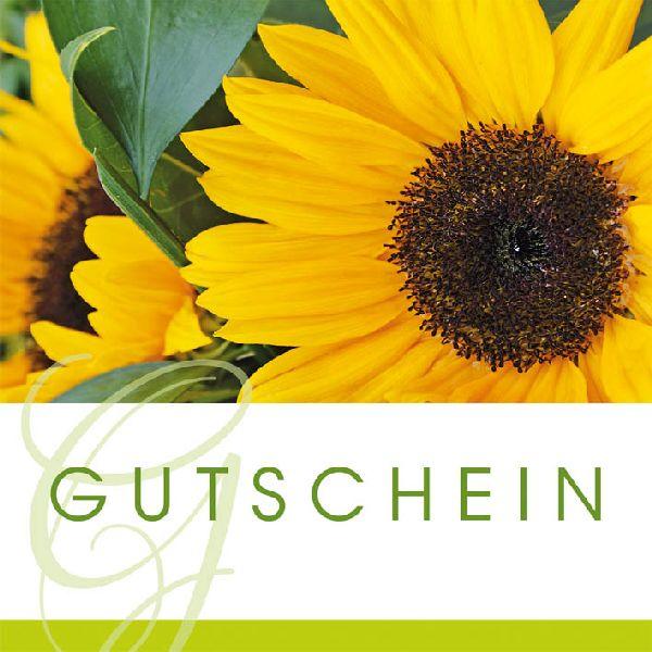 Gutschein Sonnenblume Merci Gutschein 12 cm
