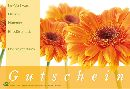 Gutschein ORANGE GERBERAS 17,2x11,4cm D-5382 Fleur Gutschein