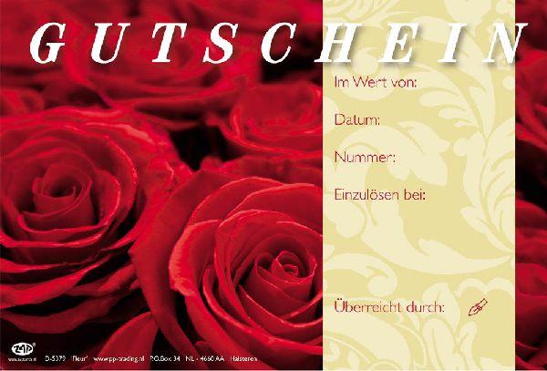 Gutschein Rote Rosen Fleur Gutschein 17,2x11,4cm
