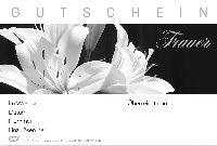 Gutschein TRAUER - SCHWARZ-WEISS Fleur Gutschein 17,2,11,4cm