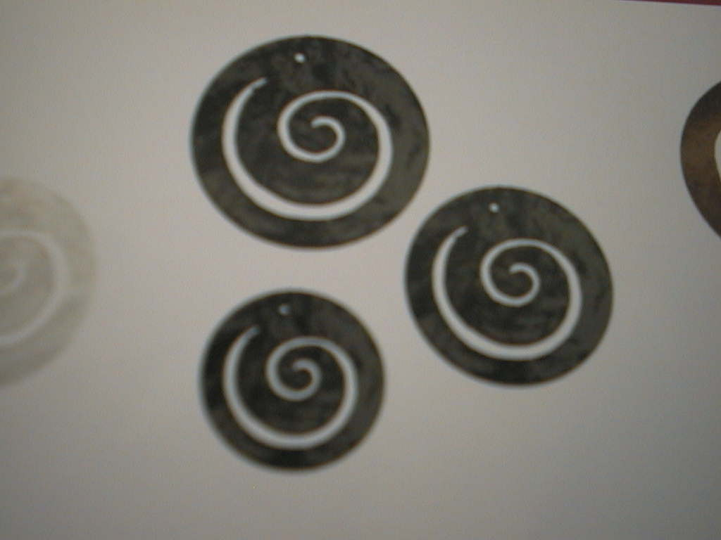Perlm.tranzp.Ornament SCHWARZ 4/5/6cm