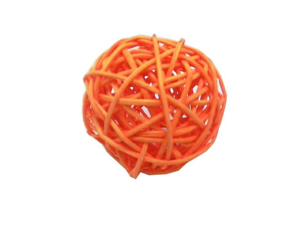 Rattanball ORANGE 3cm