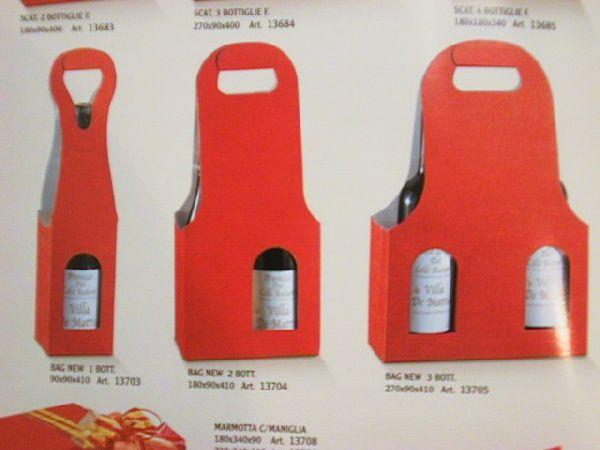 Flaschenverpackung Bag.New ROT 9x9x41 1Flasche