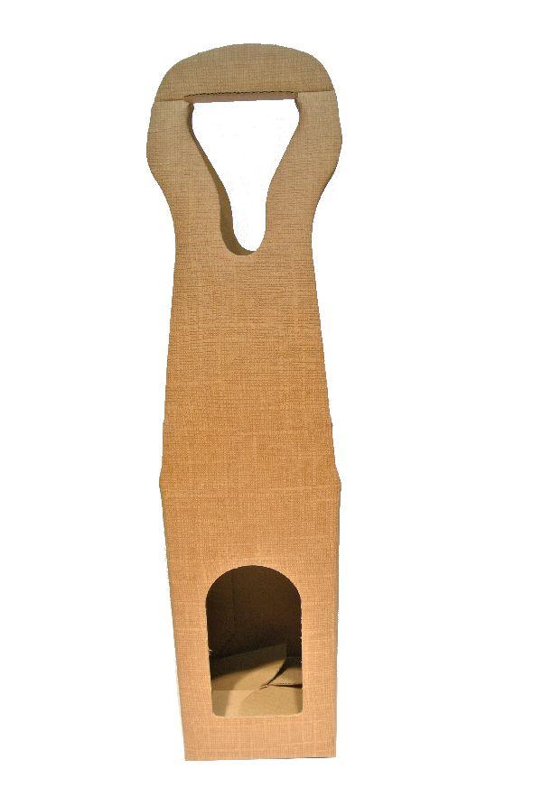 Flaschenverpackung Bag.New HELLBRAUN 9x9x41 1Flasche