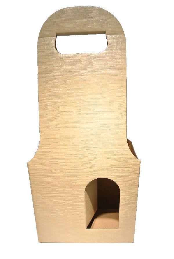 Flaschenverpackung Bag.New CREME 18x9x41 2Flaschen