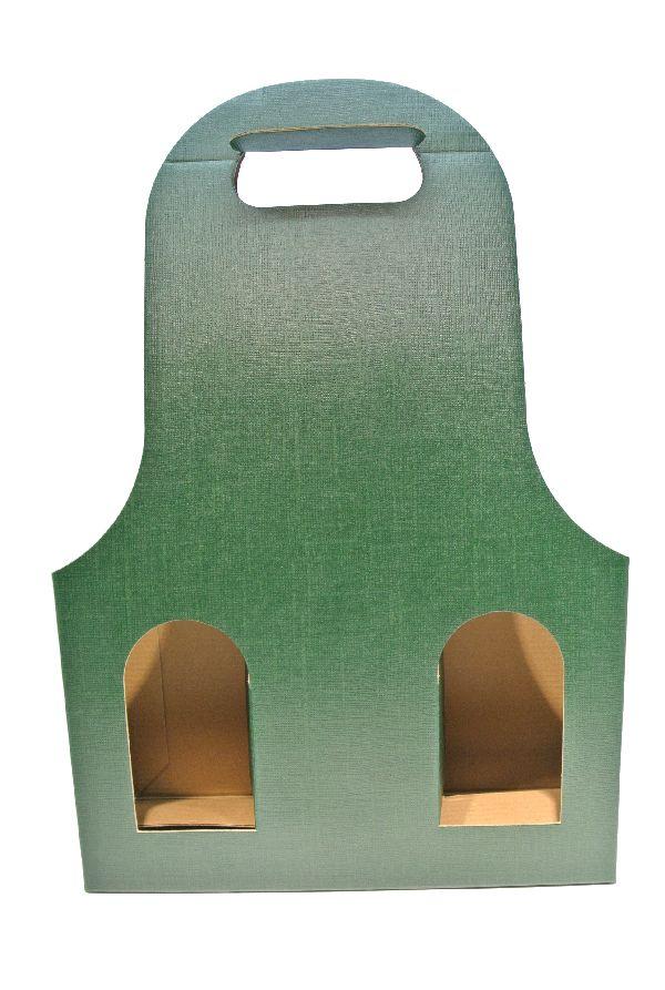 Flaschenverpackung Bag.New DUNKELGRÜN 27x9x41 3Flaschen