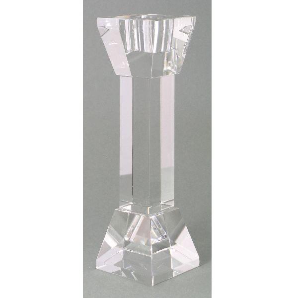 Kerzenleuchter quadratisch KLAR 17cm