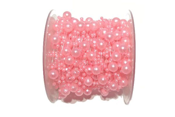 Perlenkette Svenja Perlenband ROSA 094 8mm + 3mm Länge: 15m