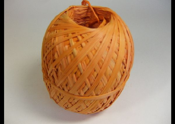 Raffia Rolls ORANGE ca 250 Gr.Bd.