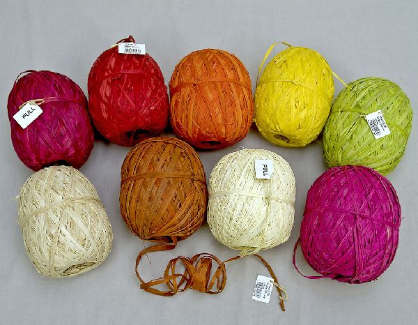 Raffia Rolls ORANGE ca 250m