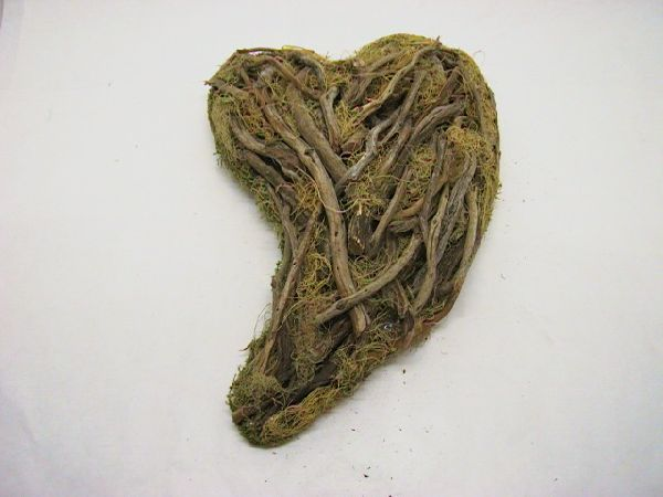 Herz Schwung Olivenholz NATUR 33cm