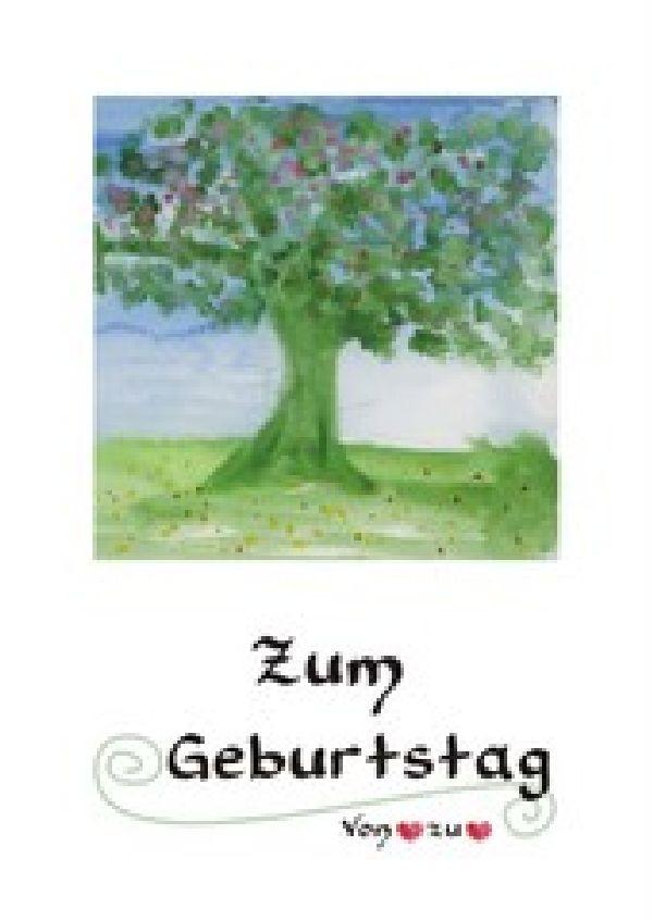 Maxikarten Geburtstag Der Lebensbaum