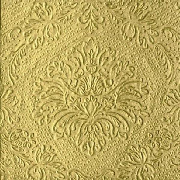 Servietten Luxury Line GOLD bedruckt und geprägt 33x33cm 20 Stück 3-lagig