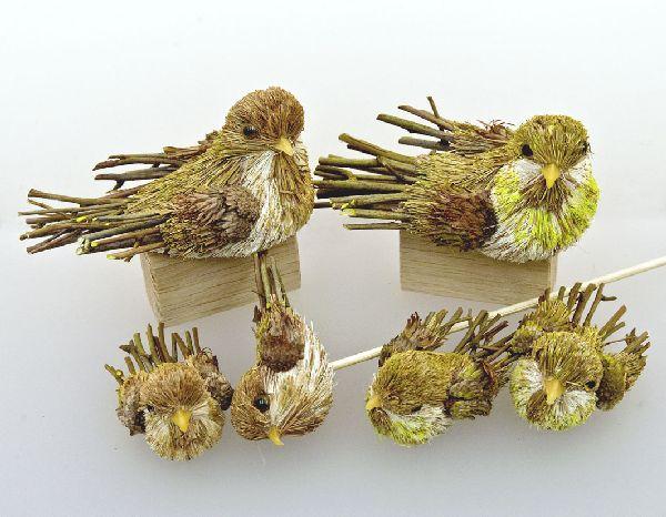 Vogel Naturmaterial CREME 11cm 4St.