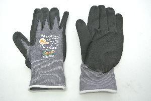 Arbeits-Handschuh GRAU-SCHWARZ Größe 9 weiss Maxiflex
