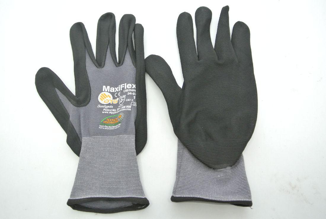 Arbeits-Handschuh GRAU-SCHWARZ Größe 11