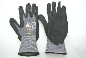 Arbeits-Handschuh GRAU-SCHWARZ Größe 11 Schwarz