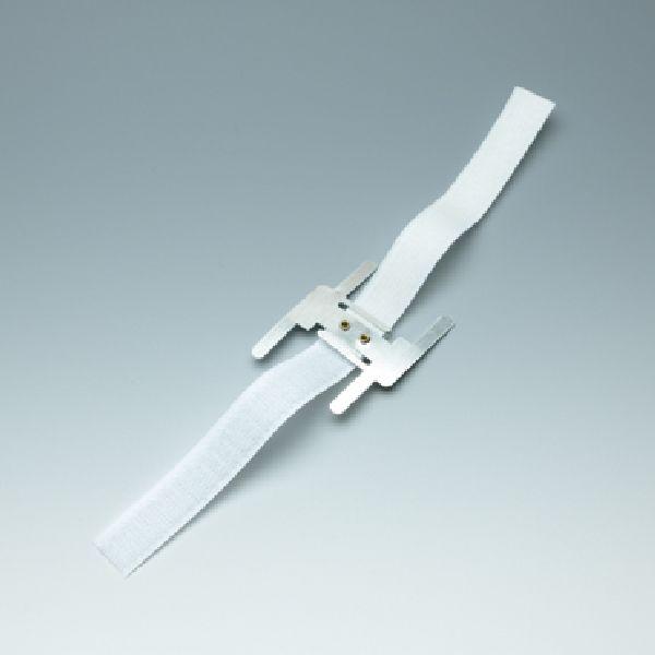 Oasis® flexibles Klettarmband WEISS 42-62201 24 x 1,5 cm Brautschmuck