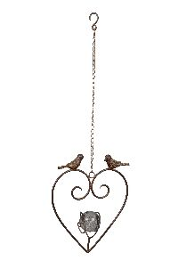 Hänger Herz Birdy ROST-BRAUN 440281 24x7xH30/67cm Metall