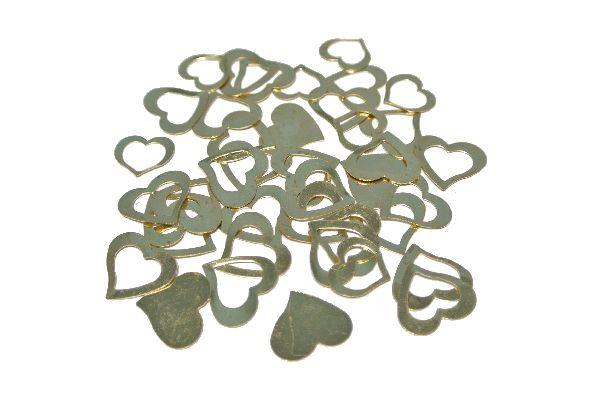 Streuherzen klein/gross GOLD 1,2-1,4cm 1 Beutel = 40 Stück