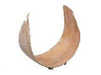 Cocosschale Galera mit Fuss White-Wash U-Form 456021 32cm