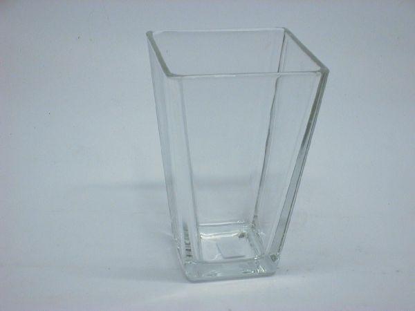 Konische Vase KLAR 48701 11x11eckig x h17cm