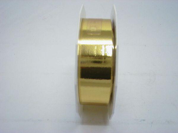 Kräuselband glänzend GOLD 25mm 25m Mexico