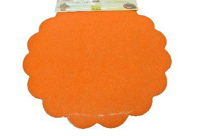 Blumella Topfmansch.Abreißbloc ORANGE-Fleece+Folie 44cm 25St.block