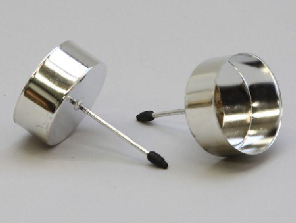 Kerzenteller mit Pick SILBER 233361 für Teelicht Ø42mm