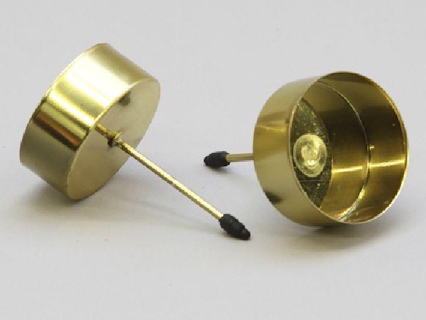 Kerzenteller mit Pick GOLD 233360 für Teelicht Ø42mm