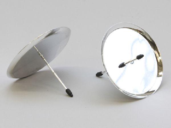 Kerzenteller mit Pick SILBER 233231 60mm