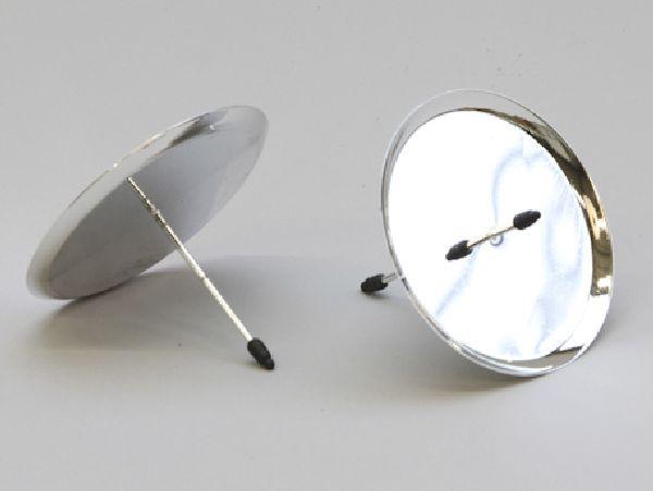 Kerzenteller mit Pick SILBER 233241 70mm